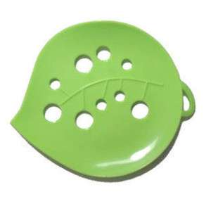 Lovely Cute Green Leaves Soap Holder Dish 1 PC