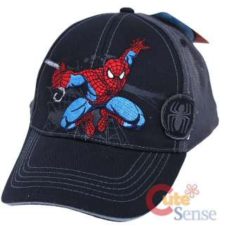 Marvel SpiderMan Baseball Cap / Adjust Hat Web Slinger 081715561284