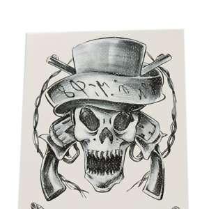 Fashion Waterproof Temporary Tattoo Sticker cool skull
