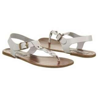 Womens Steve Madden Swivvel White Leather Shoes
