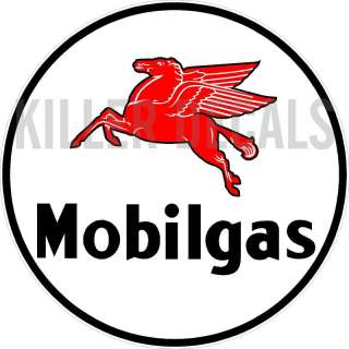 12 MOBIL PEGASUS GASOLINE GAS PUMP OIL TANK DECAL
