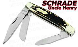 Schrade Uncle Henry Rancher 3 Blade Staglon Knife 834UH