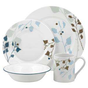 16pc CORELLE IMPRESSIONS LEAVES DINNERWARE SET NEW 2010 |