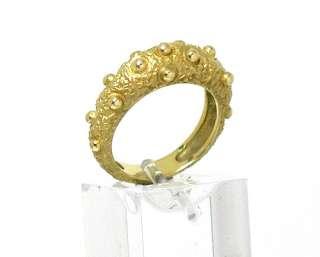 STRIKING VINTAGE 14k YELLOW GOLD DESIGNER RING