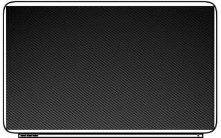 Carbon Fiber Fabric Pattern Plain Twill Protective Laptop Skin Decal