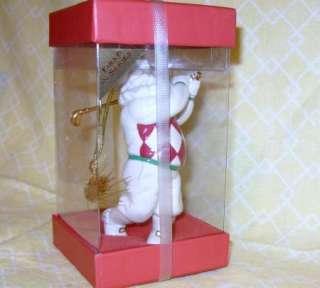 Lenox China 1st Santa Xmas Ornament Gold GOLF Club