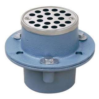 Sioux Chief 2 in. Cast Iron Shower Drain with Strainer 821 2INS at The