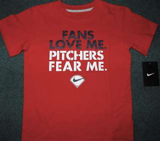 NWT Nike Boys Red/Black/White FANS LOVE ME Shirt 7X