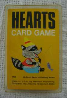 Vintage 1963 HEARTS Card Game Whitman COMPLETE Includes Hard Plastic