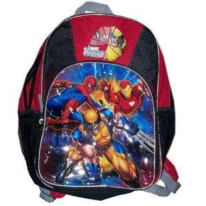 IRON SPIDER MAN &WOLVERINE Light Up School Backpack $30