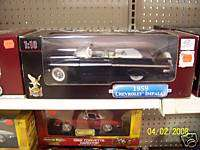 1959 CHEVY IMPALA CONVERTIBLE DIECAST BLACK SCALE 1:18