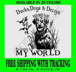 Duck Hunting Decal Chesapeake Bay Retriever Dog 3296