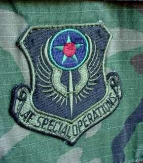 US Air Force Senior Navigator 193rd Special Ops Wing Camo Combat Coat