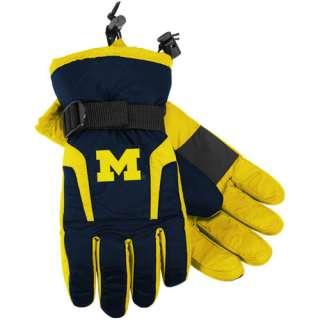 adidas Michigan Wolverines Navy Blue Maize 2011 Player Sideline Gloves