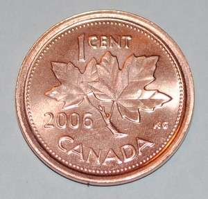 Mint Mark 1 Cent Canada Zinc Nice Uncirculated Canadian Penny Non Mag