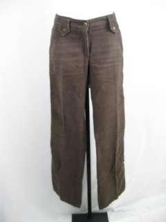 DOLCE & GABBANA Brown Cotton Boot Cut Pants Slacks 40
