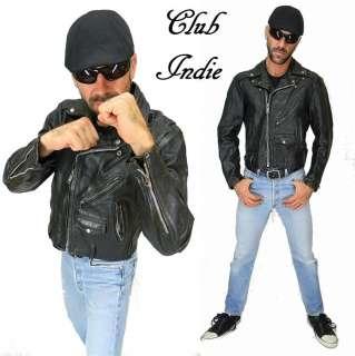 HORSEHIDE Jeweled LEATHER Motorcycle BIKER Punk INDIE Jacket M