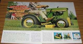 1967 Vintage Ad John Deere 8HP Model 110 Lawn and Garden Tractors