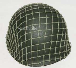 WW2 WWII US ARMY M1 GREEN HELMET COTTON NET  31884
