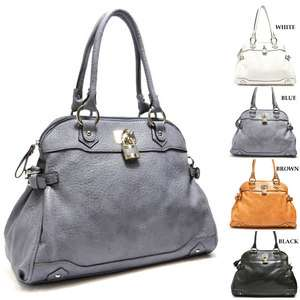 New Designer Inspired Padlock Shoulder Bag Hobo Satchel Tote Purse