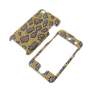 Ipod Touch 4G 4th Gen Gold Leopard Bling Case Cover+LCD