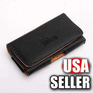 BLACK BELT CLIP PU LEATHER CASE POUCH COVER HOLSTER FOR iPhone 4 4G 4S