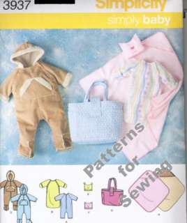 Sewing Simplicity Girl Boy Baby Toddler Size NB 12M OOP NEW Bunting