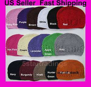 Crochet Beanie Kufi Hat Cap Toddler Girl Wholesale Lot