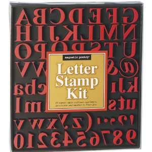 Traditional Letter Stamp Kit: .de: Magnetic Poetry: Englische