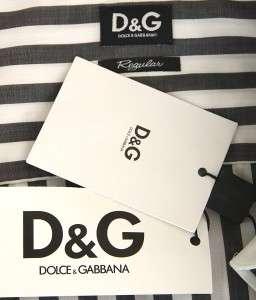 NEW DOLCE & GABBANA D&G STRIPE COTTON DRESS SHIRT 48/S