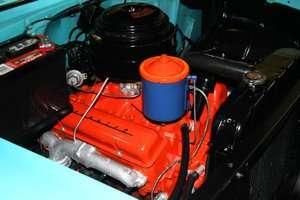 Original 1955 Chevrolet V8 265 engine with original valve covers