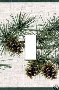 PINE BRANCHES & PINE CONES Single Light Switch Cover