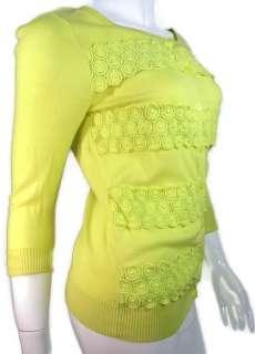 Banana Republic Yellow Button Sz Sm Spring Time Cardigan 3/4 Sleeve