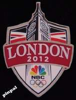 2012 Olympics Pin~Badge~Big Ben~Shield~NBC Media~Summer Games London