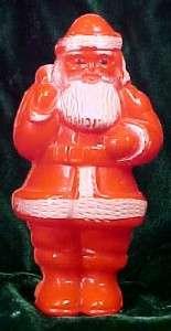 Vintage SANTA CLAUS HARD PLASTIC CHRISTMAS ORNAMENT