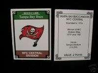 TAMPA BAY BUCS NFL OPOLY TEAM LOGO CARD FLAG VERSION
