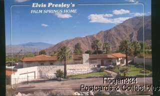 Elvis Presleys Palm Springs Home California Postcard