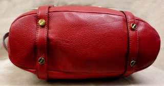 NWT MICHAEL KORS BEDFORD RED LEATHER MEDIUM SATCHEL/SHOULDER BAG  MSRP