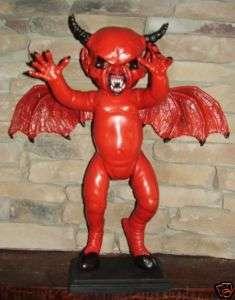 SATAN DEMON RED WINGED DEVIL DOLL OOAK MUST SEE GREAT
