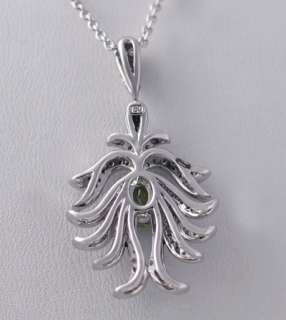 Salavetti Peridot Blue White Diamond 18k gold necklace