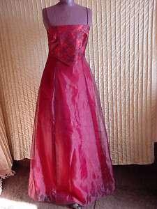 Long Crimson Formal Dress by Linda Bernell 9/10 NWT 800316132385