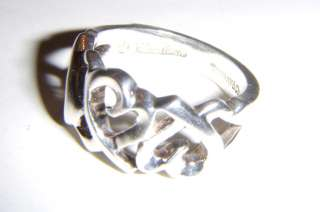 Tiffany & Co Paloma Picasso Loving Hearts Sterling Silver Ring Size 4