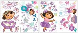 26 New DORA THE EXPLORER ENCHANTED FOREST WALL DECALS Purple Stickers