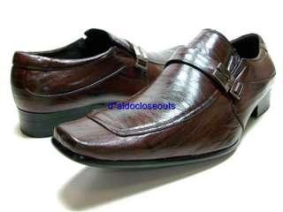 ALDO Mens Brown Dress Casual Designer Shoes Loafers