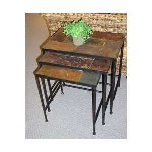 4D Concepts 3 Piece Nesting Tables with Slate Tops