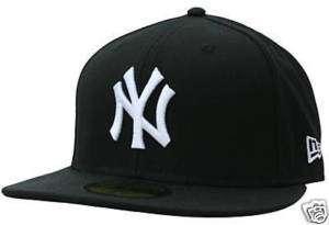 New Era 5950 NY Yankees Basic BLACK & WHITE Fitted Cap