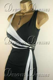 BNWT Coast Hayworth Black & White Dress & Bag sz 8