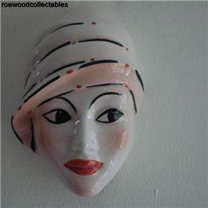 STUNNING CROWN DEVON FACE MASK HAND PAINTED DOROTHY ANN |