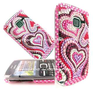 FOR NOKIA C3 CRYSTAL BLING DIAMOND CASE DIAMANTE COVER