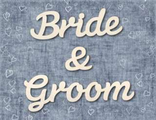 Bride & Groom Wooden Wedding Table Decoration Sign Gift